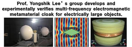Prof. Yongshik Lee's group develops and experimentally verifies multi-frequency electromagnetic metamaterial cloak for e