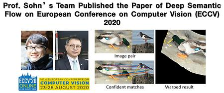 Prof. Sohn's Team Published the Paper of Deep Semantic Flow on European Conference on Computer Vision (ECCV) 2020