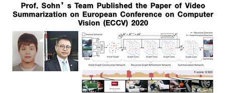 Prof. Sohn's Team Published the Paper of Video Summarization on European Conference on Computer Vision (ECCV) 2020
